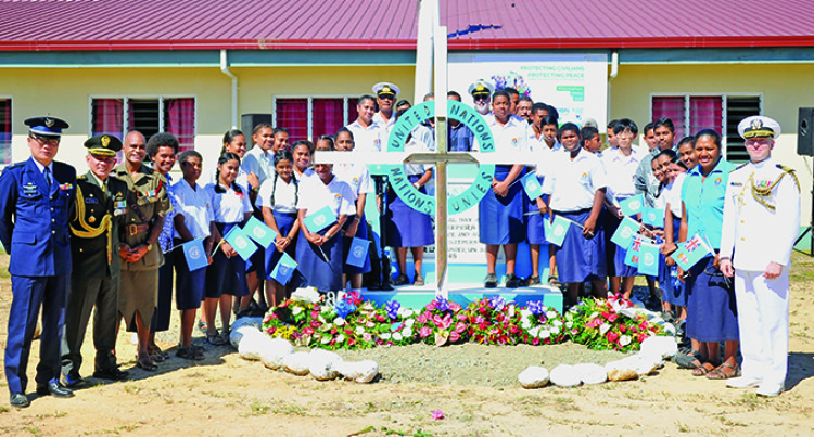Viliame Naupoto Pays Tribute During UN Peacekeepers Day