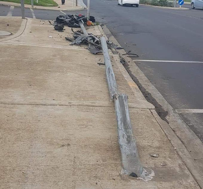 Result of an accident in Nadi.