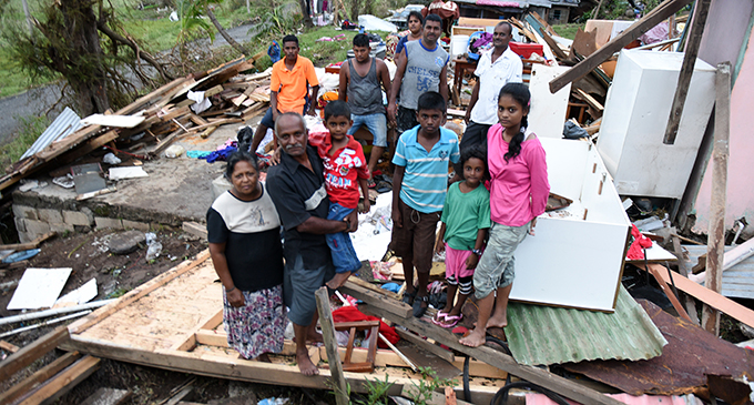 A family in Naqoro, Ra, left devastated after cyclone Winston made landfall on February 20, 2016.