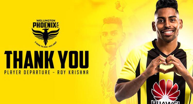 Roy Krishna Departs A-League Wellington Phoenix
