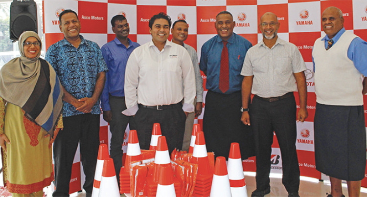 Suva Schools Get Road Safety Equipments