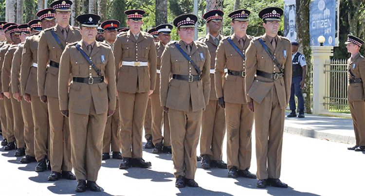 Scots Guards Bring Colour To Monthly Ceremony