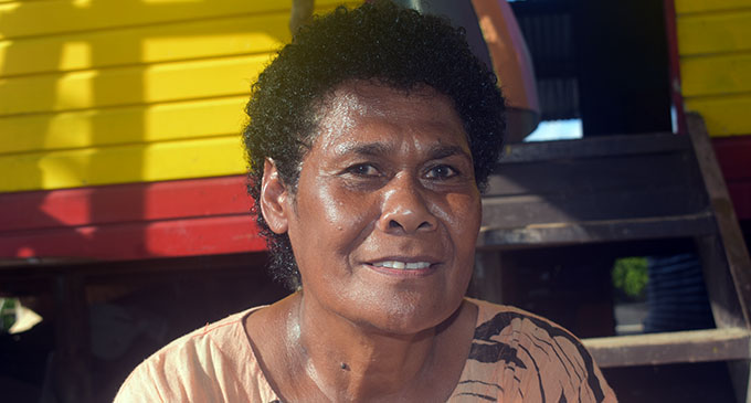 Laite Nakadrogo (mother of Mosese Voka) at Vio Island. Photo: Mereleki Nai