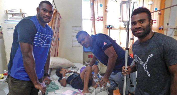7s Stars Surprise Sick Kids At CWM