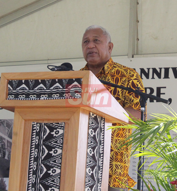 Prime Minister Voreqe Bainimarama during the Fiji Girmit 140th Anniversary celebrations at Albert park Suva on May,11,2019.Photo:Simione Haravanua.