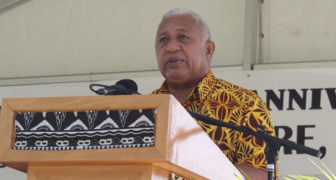 Prime Minister Voreqe Bainimarama during the Fiji Girmit 140th Anniversary celebrations at Albert Park in Suva on May 11, 2019. Photo: Simione Haravanua.