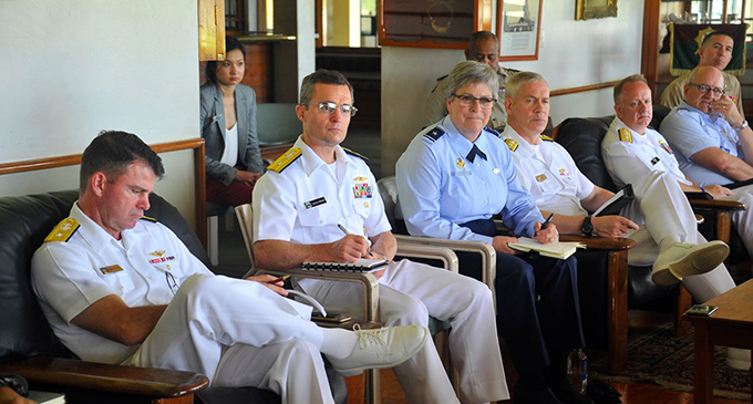 The senior US Military officers during the meeting at Queen Elizabeth Barracks  in Nabua. Photo: Photo: RFMF Media Cell
