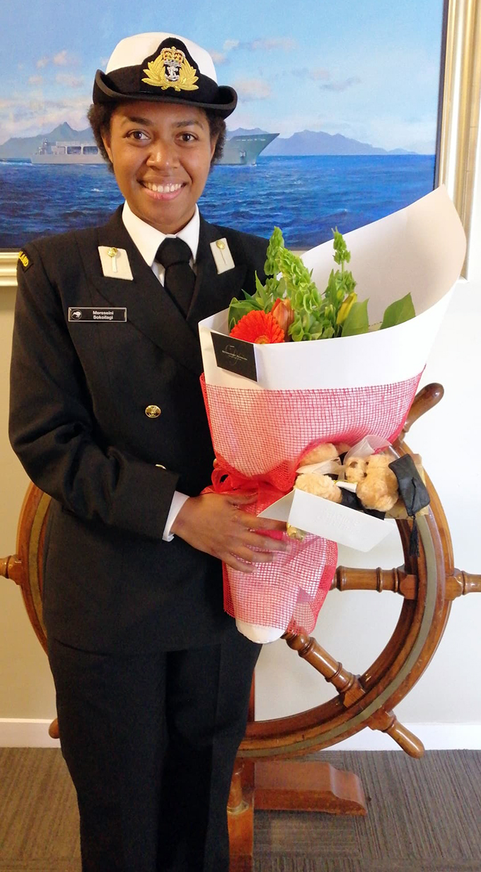Republic of the Fiji Military Forces Naval Division midshipwoman Mereseini Sokoilagi.