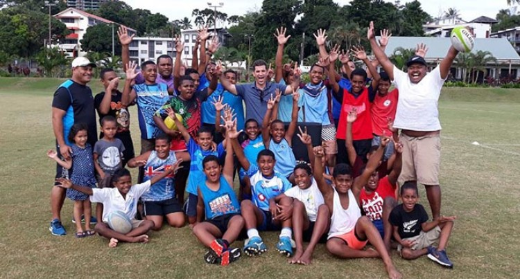 Fiji Sevens Coach Helps Holy Trinity Kaji Ruggers