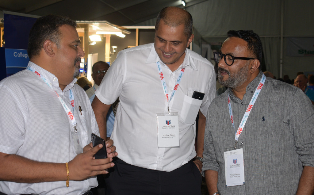 Bhavesh Kumar (from left) Arshad Daud and Vijay Sharma  during Construction Industry Council 2nd trade show at Grand Pacific Hotel in Suva on June 13, 2019. Photo: Ronal Kumar.