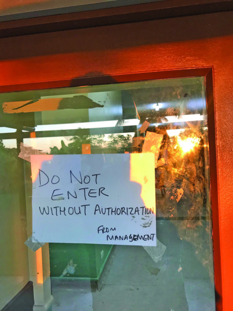 A sign on the door of the paying ward of Nadi Hospital on June 6, 2019. Photo: Waisea Nasokia
