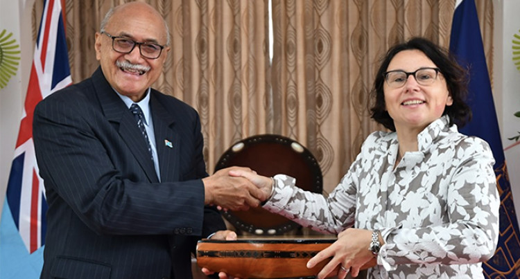 President Jioji Konrote Receives Netherlands Ambassador