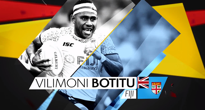 Fiji Airways Fijian 7s rep Vilimoni Botitu was DHL 'Impact Player of the Series. Photo: Ian Muir