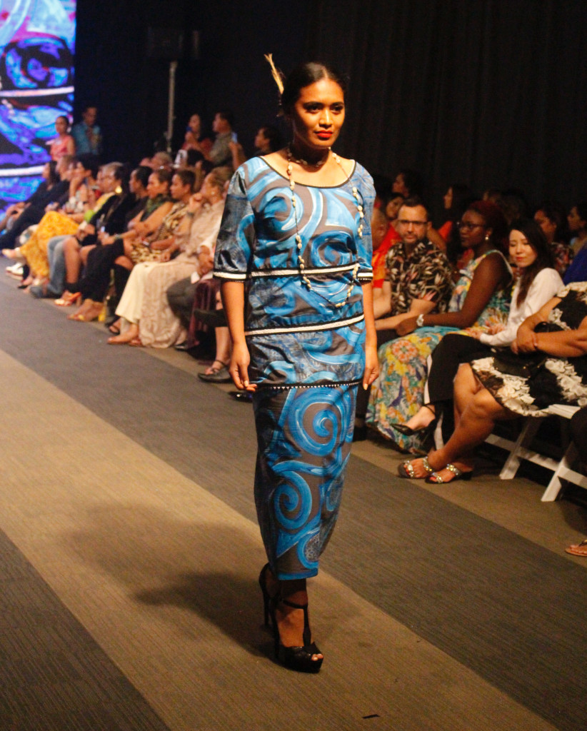 A model wearing a collection from Fenua Arts during the Bottega Fijian Fashion Festival at the Grand Pacific Hotel Suva on June 7,2019.Photo:Simione Haravanua.