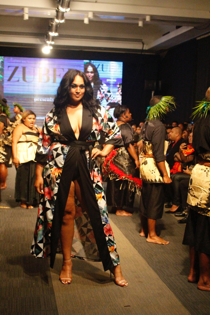 A model wearing a collection from Zuber during the Bottega Fijian Fashion Festival at the Grand Pacific Hotel Suva on June 7,2019.Photo:Simione Haravanua.