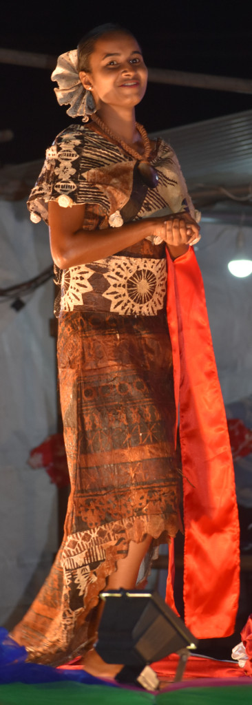 Miss Tukavesi Archana Chetty vying for Miss Digicel Duavata Northern Crime Prevention Carnival at Subrail Park in Labasa dressed for Bula night on July 2,2019. Photo:Shratika Naidu