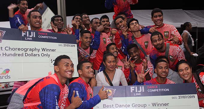 Fiji Link Kula Dance competition winners Marist Brothers High School .  Photo: Simione Haravanua