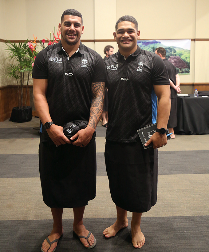 Fiji Airways Flying Fijians Matavesi brothers Josh and Sam at the Grand Pacific Hotel, Suva on June 30, 2019. Photo: Simione Haravanua