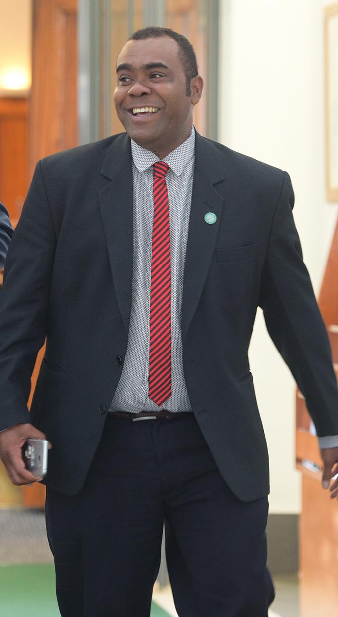 Opposition MP Mosese Bulitavu outside Parliament. Photo: Ronald Kumar