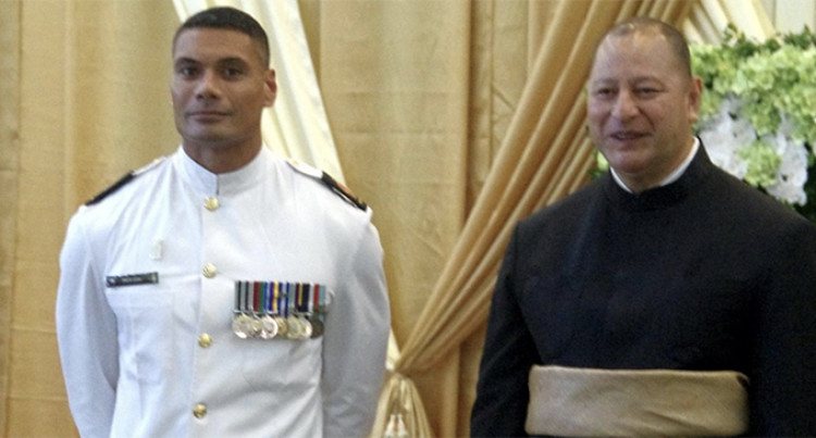 Royal New Zealand Navy's First Togan Warrant Officer Gets Special Meeting With King Tupou VI