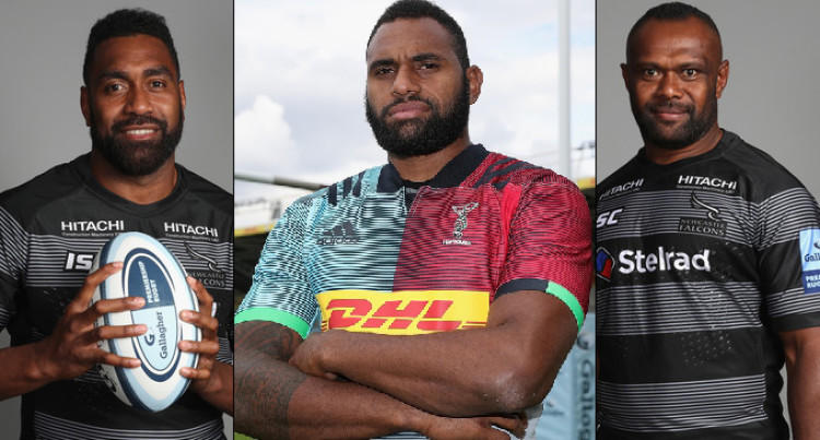 Flying Fijians Goneva and Cavubati Join Kunatani At The Harlequins