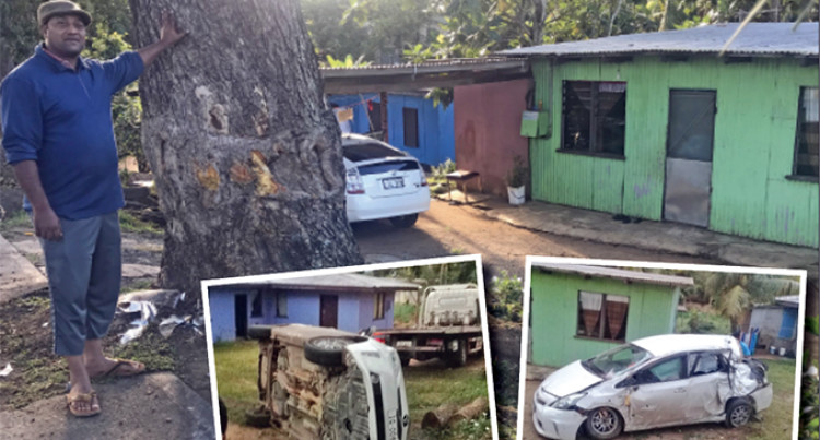 Vehicle Crash Into Compound Early Morning Awakens Family Of Seven