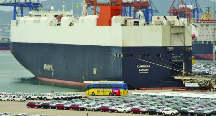 Vehicles Carrier Brings Close To 100 Vehicles