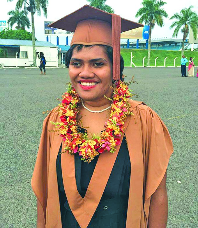 Nina Tuwere on her graduation day during the USP Graduation in March 2018.