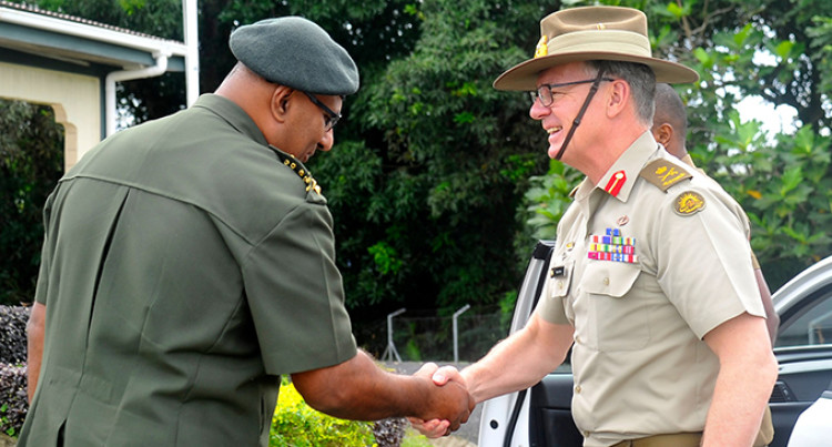 Australian Defence Force Chief  of Army Visits RFMF Counterparts