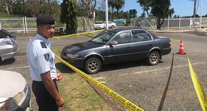 The vehicle belonging to the family from Legalega who were found dead in the Nausori Highlands on Monday August 26, 2019 parked at the New World supermarket carpark at Votualevu. Photo: Waisea Nasokia