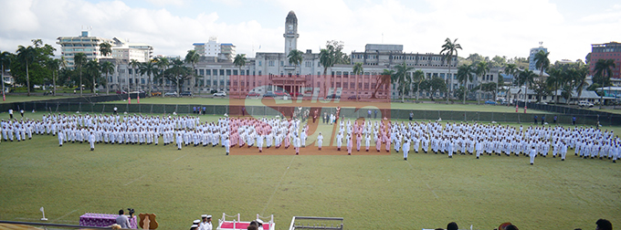 Dudley High School Navy Cadet Passing out parade at Albert Park in Suva on August 9, 2019. Photo: Ronald Kumar.