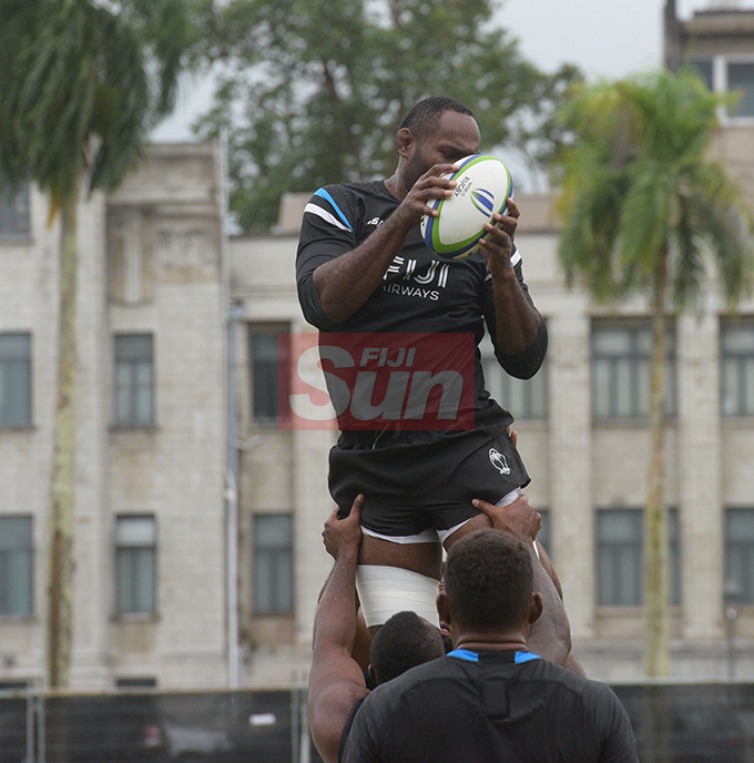 Flying Fijians player Apisalome Ratuniyarawa during a training session at Albert park Suva on August 5,2019.Photo:Simione Haravanua.