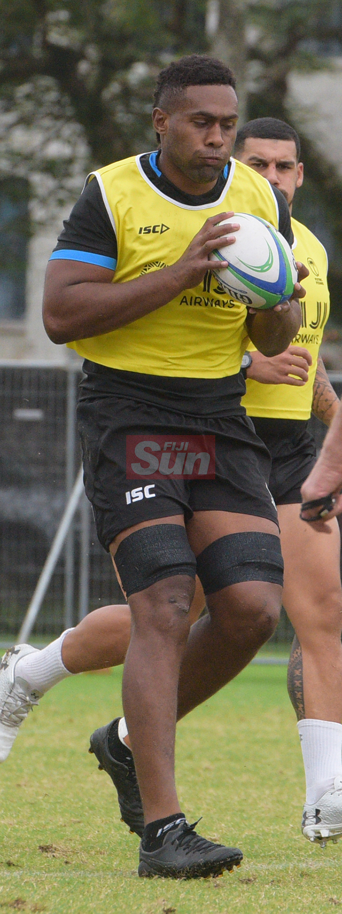 Flying Fijians player Viliame Mata during a training session at Albert park Suva on August 5,2019.Photo:Simione Haravanua.
