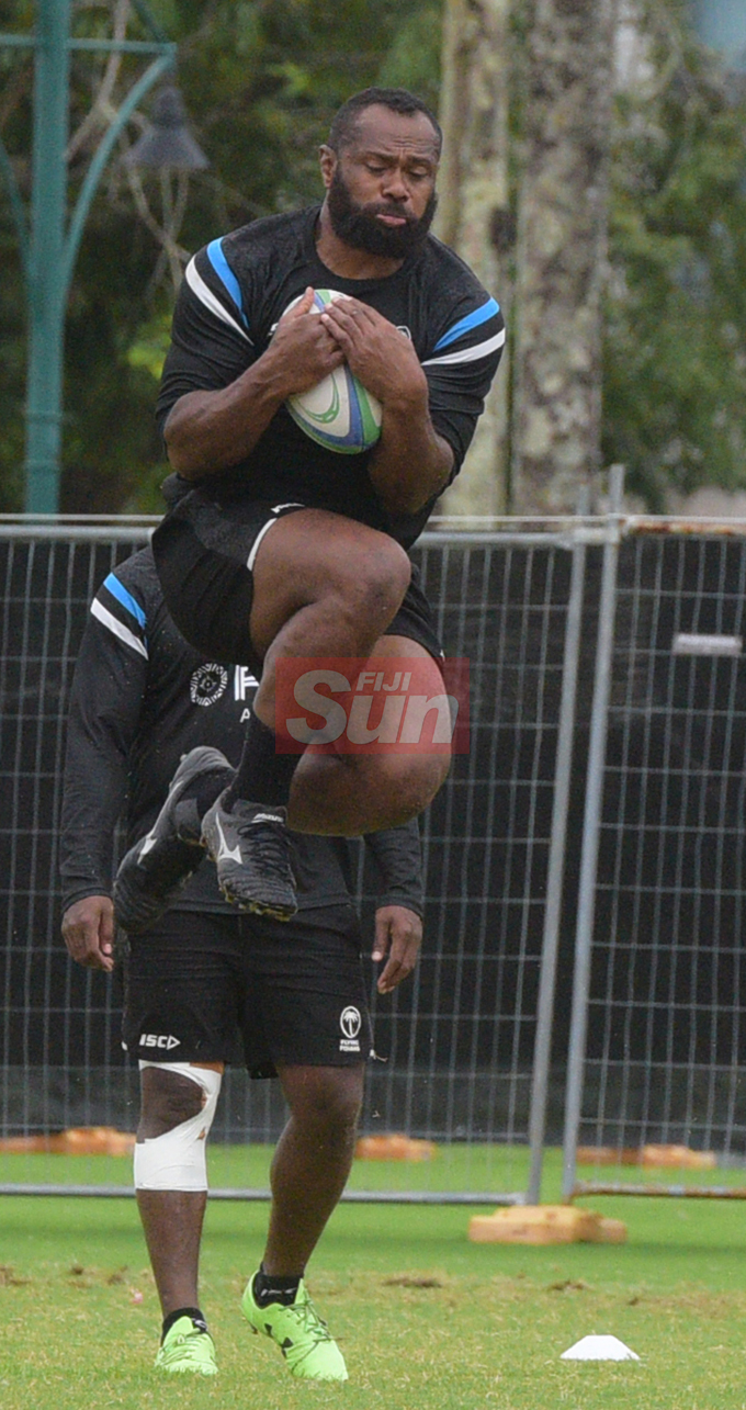 Flying Fijians player Vereniki Goneva during a training session at Albert park Suva on August 5,2019.Photo:Simione Haravanua.