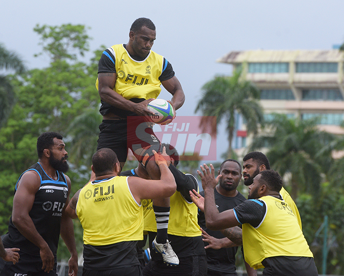 Flying Fijians player Mosese Voka during a training session at Albert park Suva on August 5,2019.Photo:Simione Haravanua.