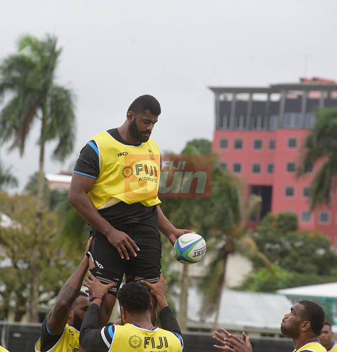 Flying Fijians player Tevita Ratuva during a training session at Albert park Suva on August 5,2019.Photo:Simione Haravanua.