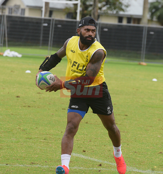 Flying Fijians player Nikola Matawalu during a training session at Albert park Suva on August 5,2019.Photo:Simione Haravanua.