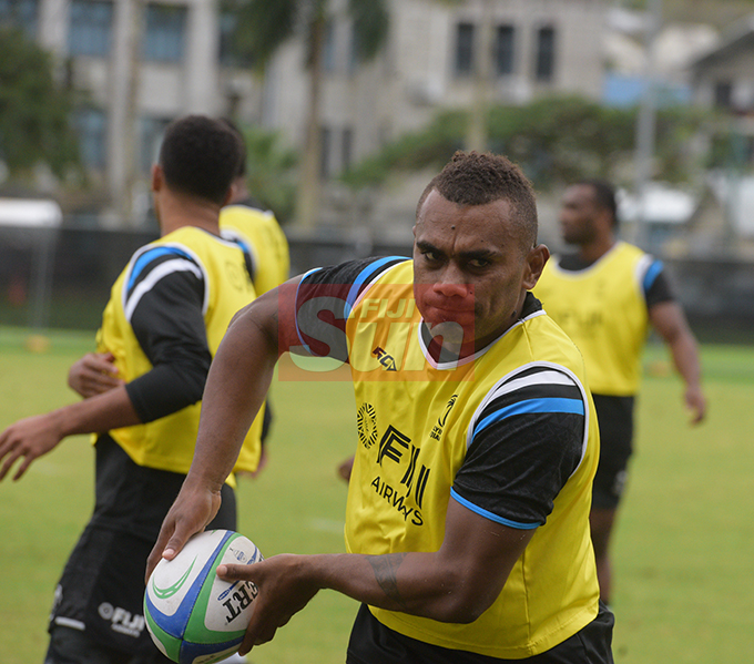 Flying Fijians player Eroni Sau during a training session at Albert park Suva on August 5,2019.Photo:Simione Haravanua.