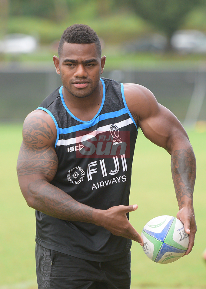 Fiji Airways Flying Fijian winger Josua Tuisova during training at Albert Park on August 6, 2019. Photo: Ronald Kumar.