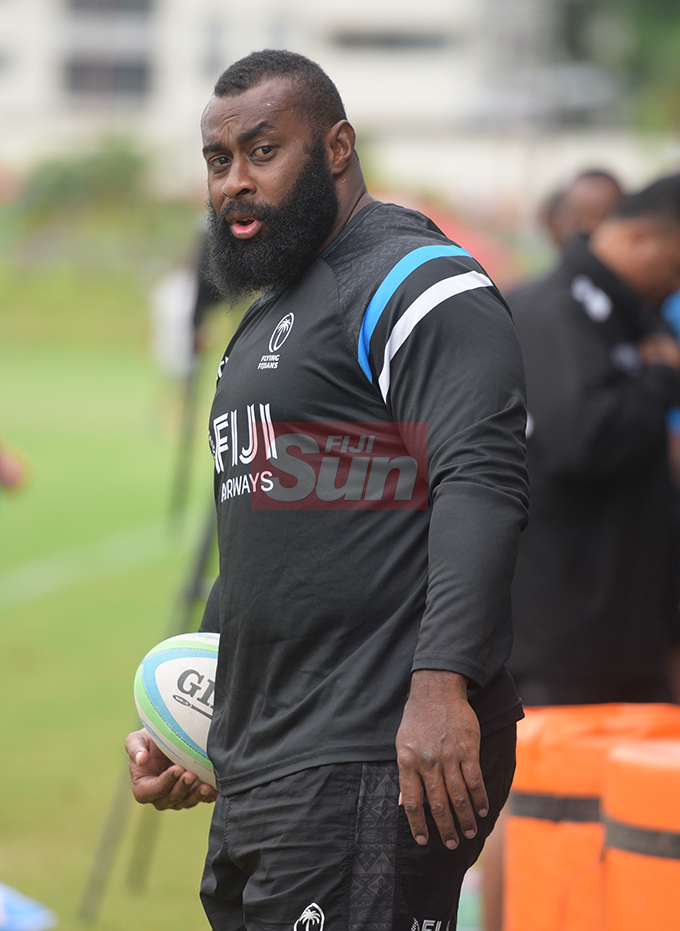 Fiji Airways Flying Fijian rep, Peni Ravai during training at Albert Park on August 6, 2019. Photo: Ronald Kumar.