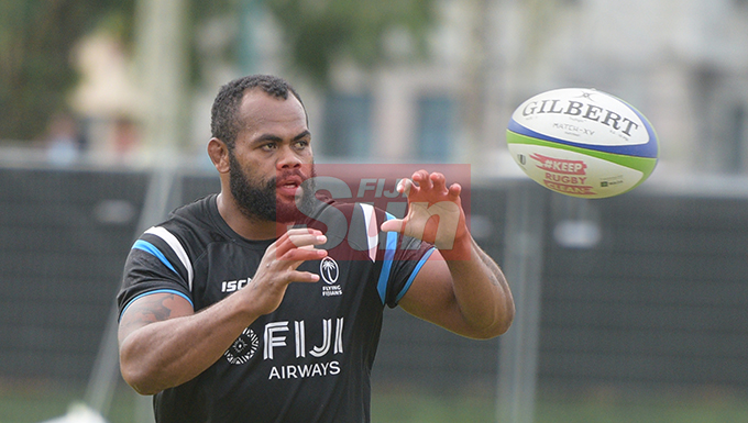 Fiji Airways Flying Fijian rep, Peceli Yato during training at Albert Park on August 6, 2019. Photo: Ronald Kumar.