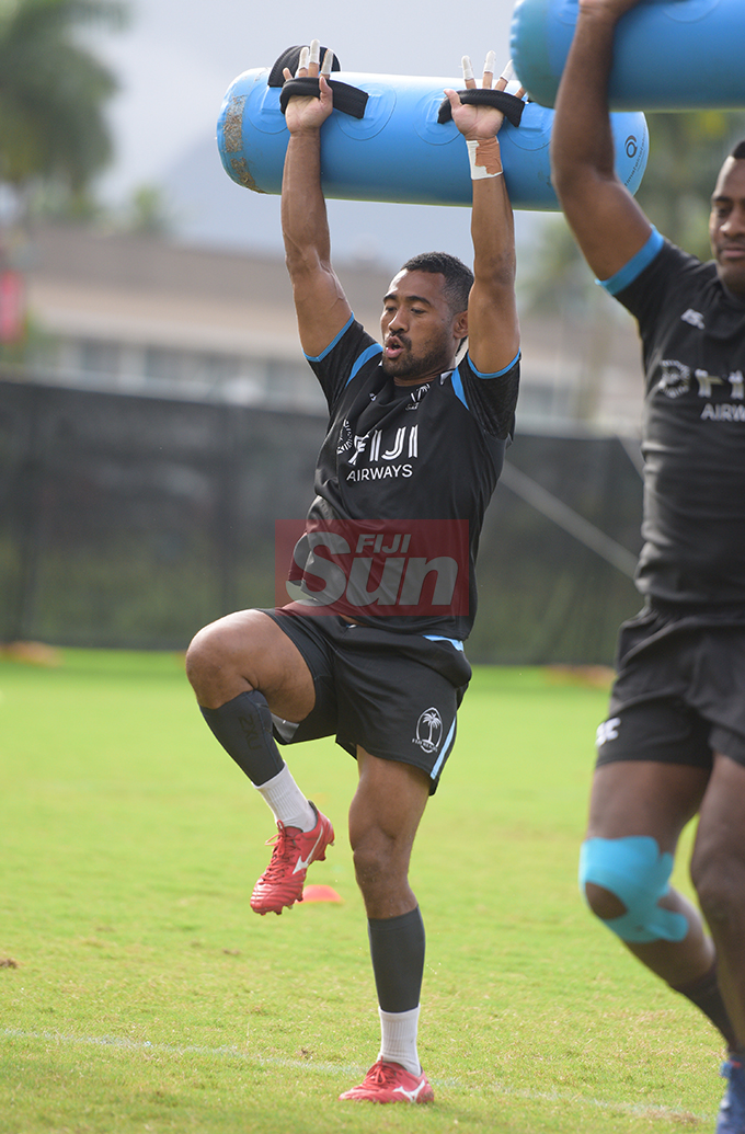 Fiji Airways Flying Fijian rep, Henry Seniloli during training at Albert Park on August 6, 2019. Photo: Ronald Kumar.