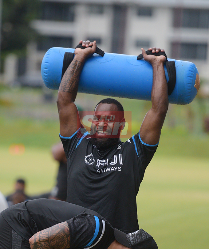 Lepani Botia during Fiji Airways Flying Fijians training at Albert Park on August 16, 2019. Photo: Ronald Kumar.