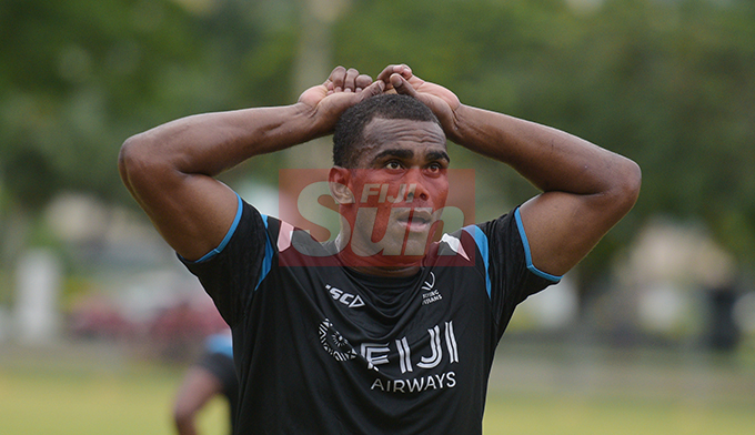 Mosese Voka after Fiji Airways Flying Fijians during training at Albert Park on August 16, 2019. Photo: Ronald Kumar.