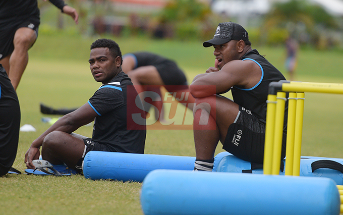 Brother's Filipo Nakosi (left) and Josua Tuisova are both named in the 31 member Fiji Airways Flying Fijians extended World Cup squad at Albert Park on August 16, 2019. Photo: Ronald Kumar.