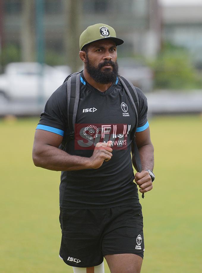 Flying Fijians Captain Dominiko Waqaniburotu at Albertg park on August 20, 2019. Photo: Ronald Kumar.