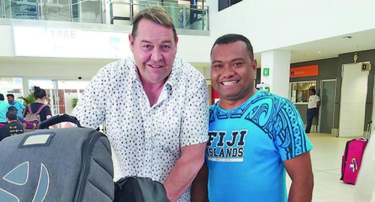 New Zealand All Blacks Coach And Winger Here For A Break