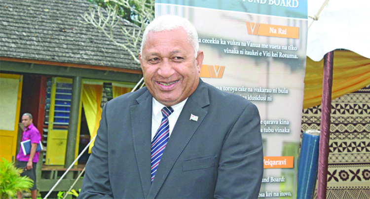 Prime Minister Tells Nadroga/Navosa Chiefs To Build Strong Family Units