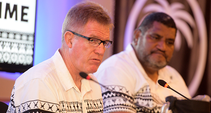 Fiji Airways Flying Fijians head coach John McKee during the Rugby World Cup team announcement on Friday August 17 at the Grand Pacific Hotel in Suva. Photo: Ronald Kumar