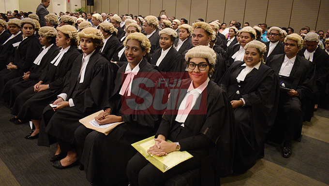 51 new lawyers were sworn in by Acting Chief Justice Kamal Kumar at Grand Pacific Hotel on August 16, 2019. Photo: Ronald Kumar.